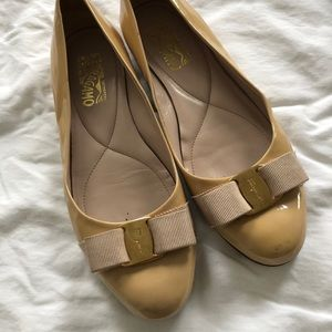 Ferragamo bow ballet flats